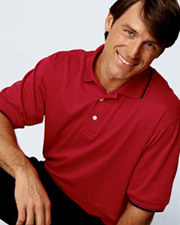 Devon & Jones Classic Men's Tipped Perfect Pima Interlock Polo