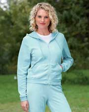 Devon & Jones Ladies' Velour Hoodie