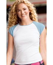 District Threads™ - Ladies Cap Sleeve Raglan Tee