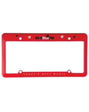 4 Holes Straight Top License Plate Frame