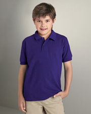 Gildan Youth 5.3 oz., 65/35 Easy Care Spun Blend Piqué Sport Shirt