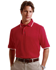Harriton 6 oz. Short-Sleeve Piqué Polo with Tipping