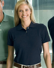 Harriton Ladies' 5.6 oz. Easy Blend Polo