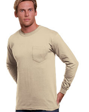 BaySide Union Made Adult Long-Sleeve Pocket Tee