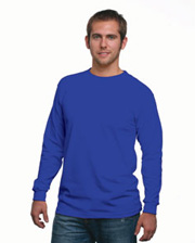 Bayside Adult Long-Sleeve Tee Made In USA