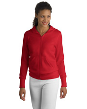 Sport-Tek Ladies Full-Zip Hooded Fleece Jacket.