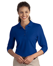 Ladies Silk Touch™ 3/4-Sleeve Polo