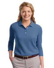 Ladies EZCotton™ Pique 3/4-Sleeve Polo