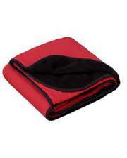 Port Authority® - Fleece and Poly Travel Blanket