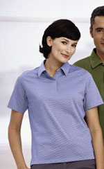 SOLAR Shield Ladies' Short Sleeve Striped Sport Shirt
