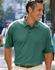 UltraClub Men's Whisper Pique Polo