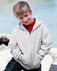 JERZEES - Youth Full Zip Hooded Sweatshirt. 993B