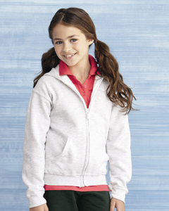 Gildan 7.75 oz 50/50 Youth Full-Zip Hooded Sweatshirt
