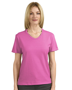 Hanes Ladies V-Neck T-Shirt