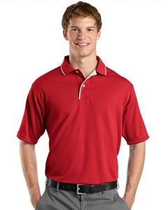 Sport-Tek Dri-Mesh™ Sport Shirt with Striped Collar