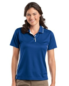 Sport-Tek Dri-Mesh™ Sport Shirt with Striped Collar - Ladies