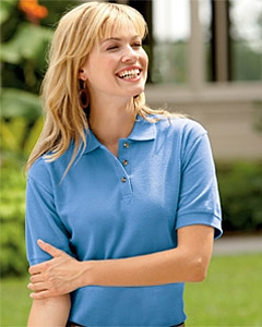 UltraClub Ladies' Luxury Double Pique Polo