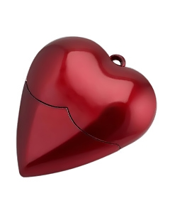 Murphy Heart Shaped USB 2.0 Flash Drive
