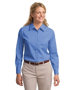 Port & Company Ladies Long Sleeve Easy Care Shirt